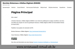 Revista Sistemas e Mídias Digitais
